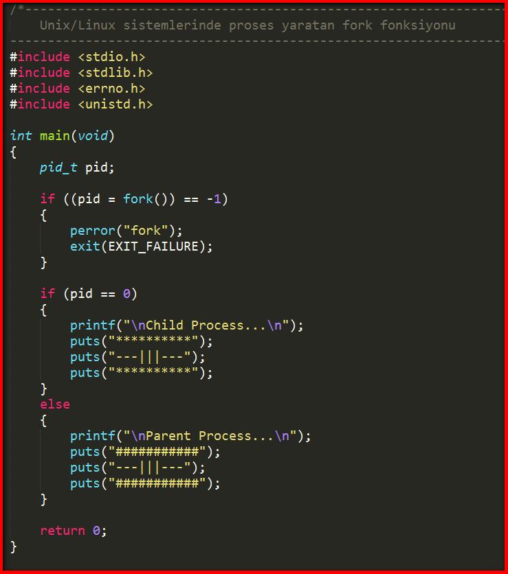 Linuxte child process oluturma  C Learning Tutorials