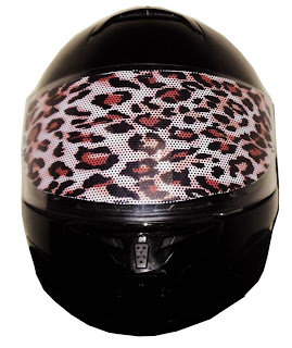 moto Helmet Visor Sticker