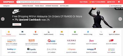 Lebih Diskaun Kepada Kaki Shopping Online Menggunakan Shopback