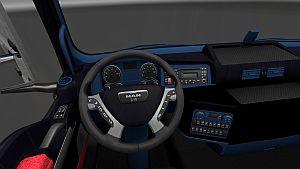 Blue & Black interior for MAN TGX