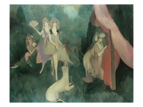 art for salon wall, Laurencin: Women, 1920