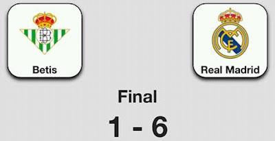 Betis 1-6 Real Madrid. Liga 2016/17 - Jornada 8 (15/10/2016).