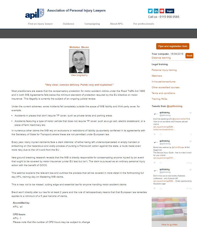 Nota Bene Legal Consulting September 2016