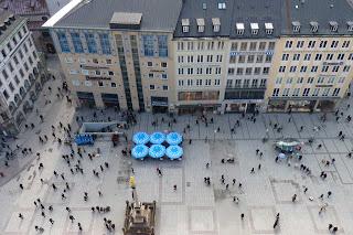 Parte de la Marienplatz desde la torre del Neues Rathaus.