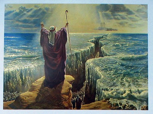 Moses Splitting The Red Sea Pictures To Pin On Pinterest