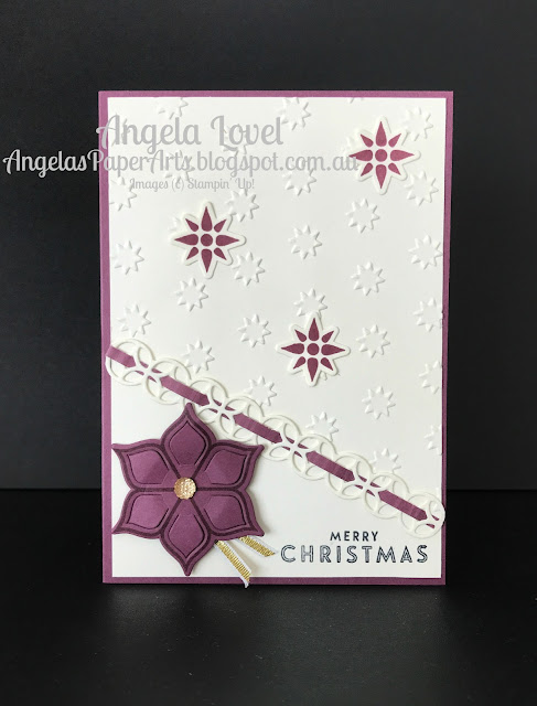 Stampin' Up! Eastern Palace Christmas Card by Angela Lovel, Angela's PaperArts