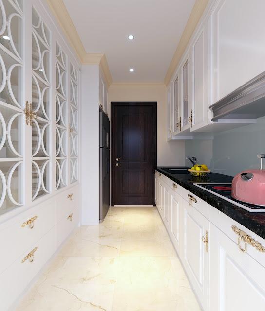 Thiết kế nội thất phòng bếp căn hộ Iris Garden