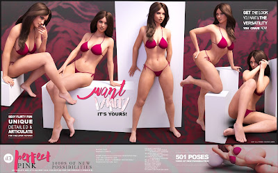 i13 Perfect Pink Pose Collection for the Genesis 3 Female
