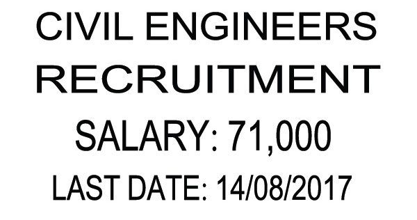 ENGINEERING JOBS IN INDIA: CIVIL ENGINEERS RECRUITMENT