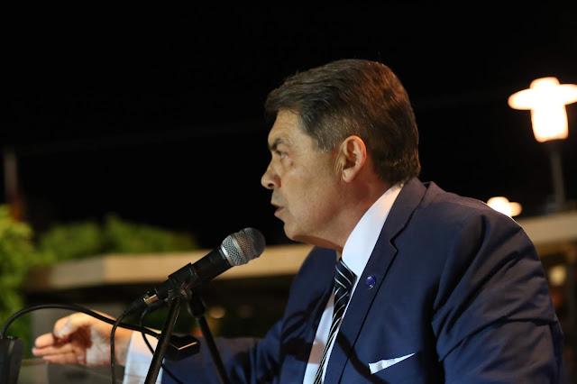 Η ομιλία του Δημάρχου Άργους Μυκηνών Δημήτρη Καμπόσου στα εγκαίνια του εκλογικού κέντρου
