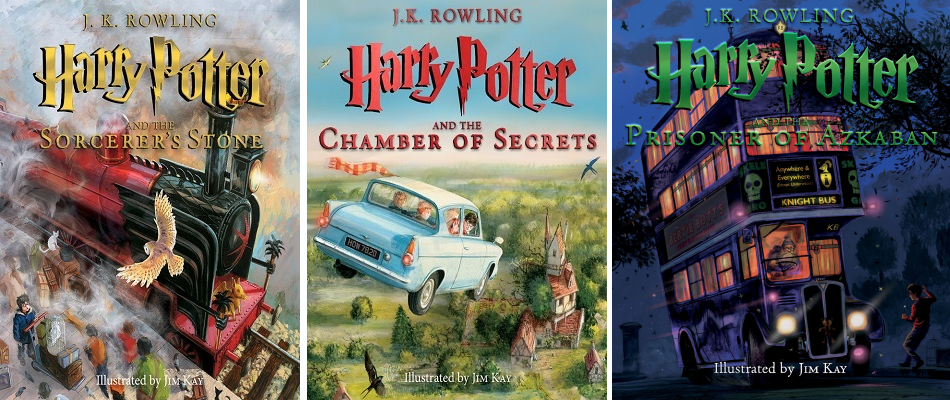 Illustrated Book Covers ~ Potter talk retrospective of harry book covers