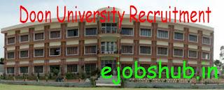 Doon University Recruitment