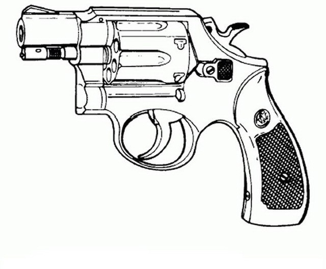 Revolver Para Colorear Y Pintar Dibujo Views