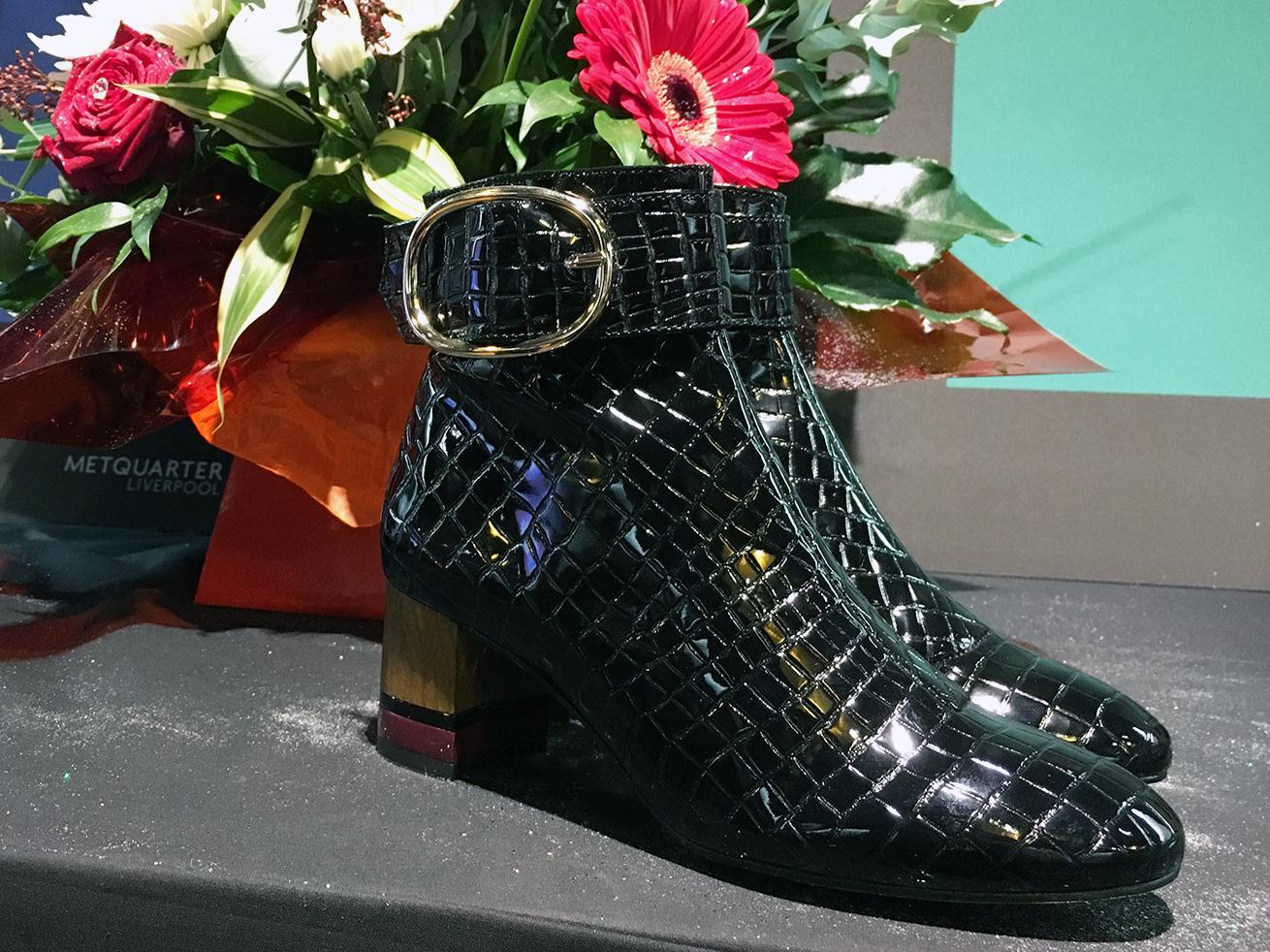 kurt geiger croc boots buckle aw16