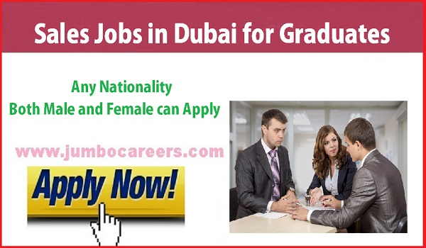 Details of Gulf sales consultants jobs, Latest sales jobs for graduates in Dubai,