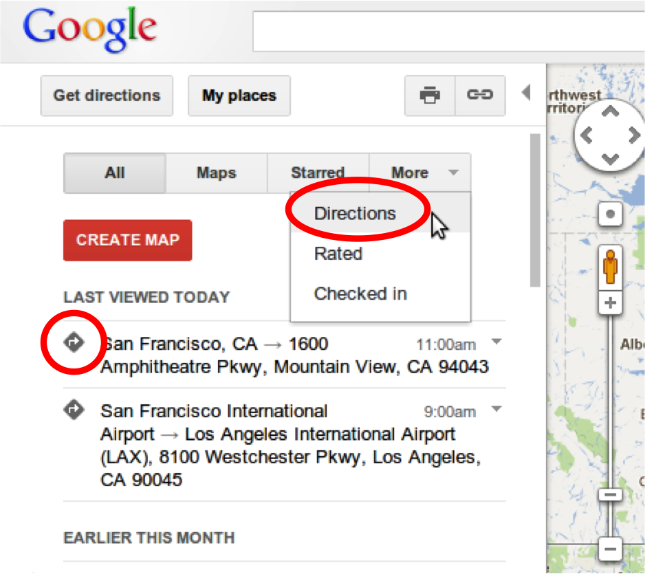 how to delete starred places in google maps