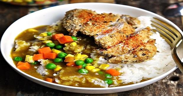 Baked Chicken Katsu Curry Don Recipe