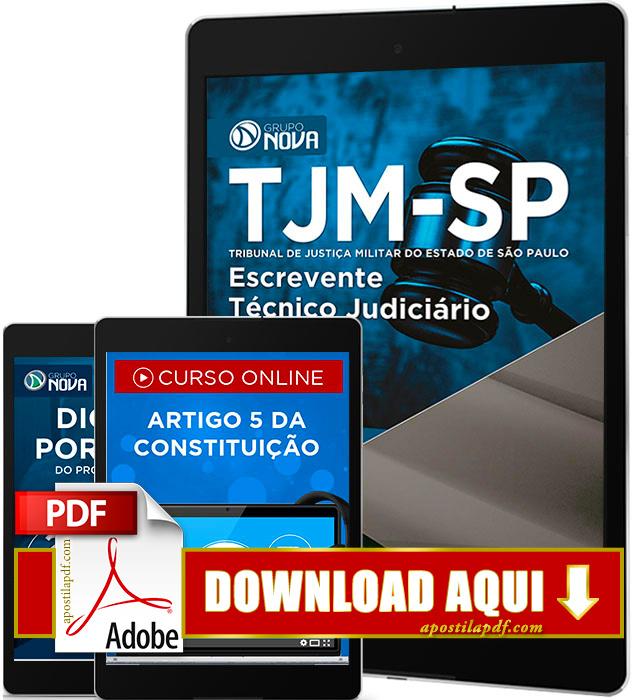 Apostila TJM SP 2016 PDF Download Escrevente Técnico Judiciário