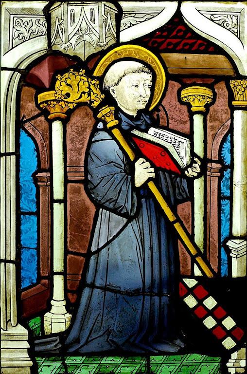 São Bernardo de Claraval, vitral do Reno superior, aprox. 1450