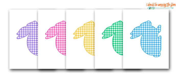 Colorful Bunny Outline Printables