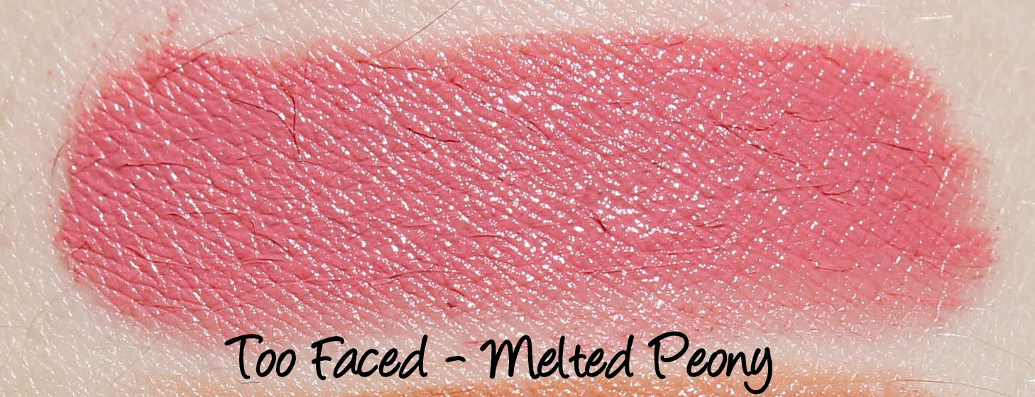 Too Faced Melted Peony Swatches & Review