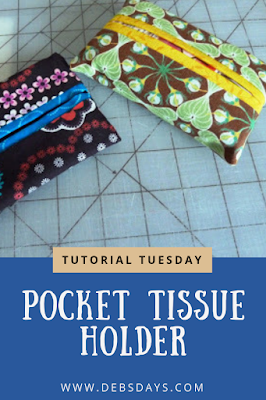 Easy Homemade Decorative Fabric Pocket Tissue Holder Sewing Project