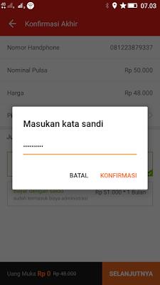 Password Untuk Transaksi Akulaku Android