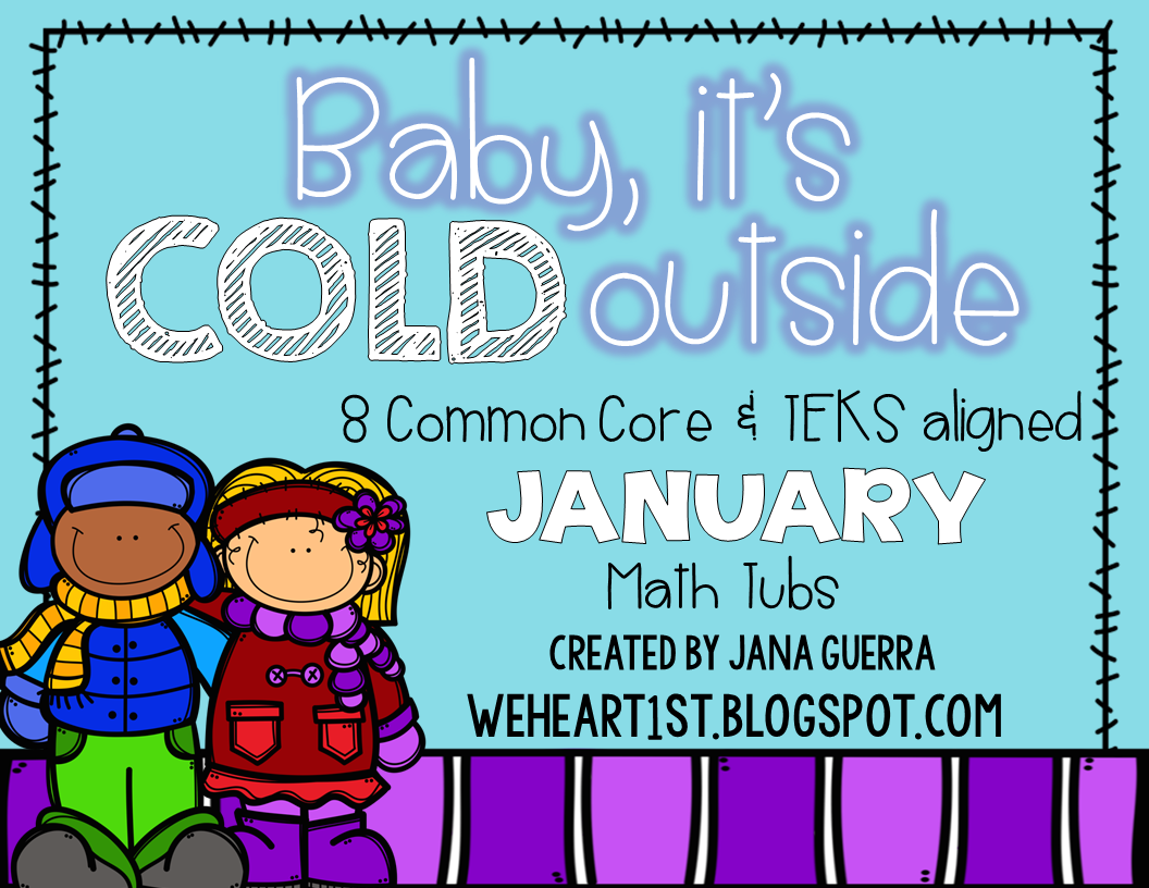 http://www.teacherspayteachers.com/Product/Baby-Its-Cold-Outside-January-Winter-themed-Math-Tubs-1625956