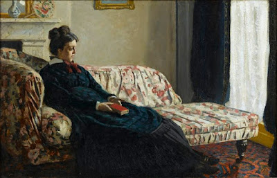 Claude Monet - Meditation Mr monet sitting on a sofa,1871.