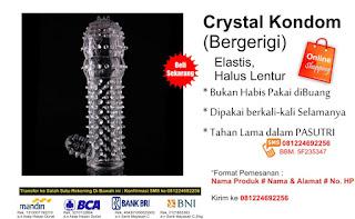 Kondom Crystal Perangsang Membuat Wanita