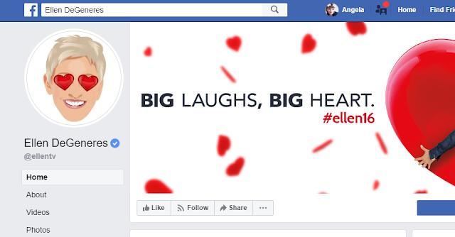 Ellen DeGeneres Facebook Page