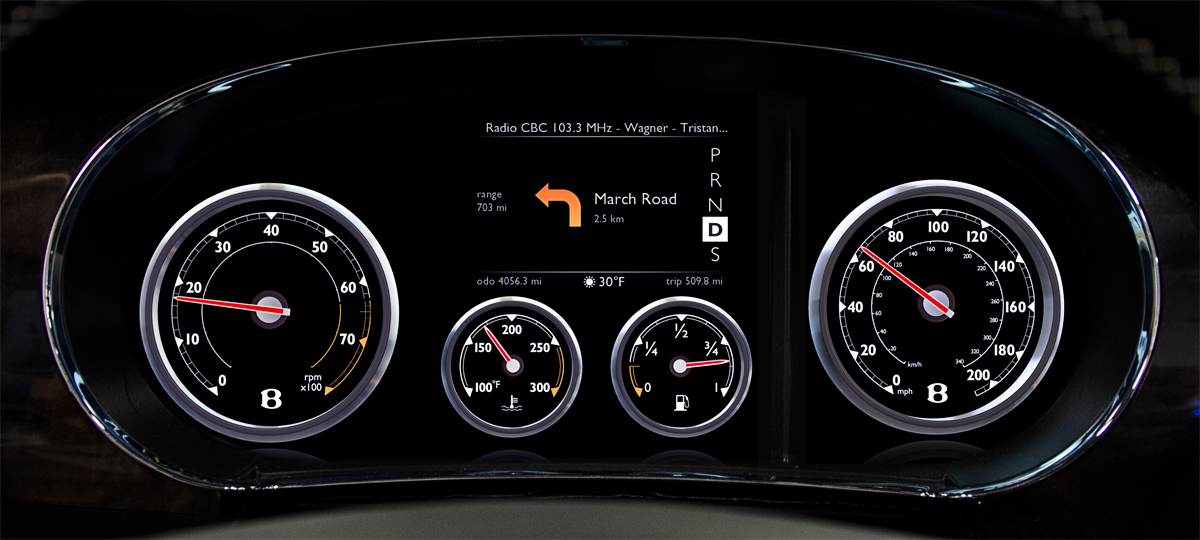 Digital Car Gauges Cluster : Qnx auto goodbye analog hello digital