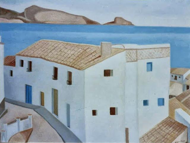 Juan Navarro Ramón paisaje mediterraneo altea pintura posguerra