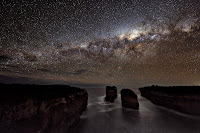 A Milky Way Shadow at Loch Ard Gorge