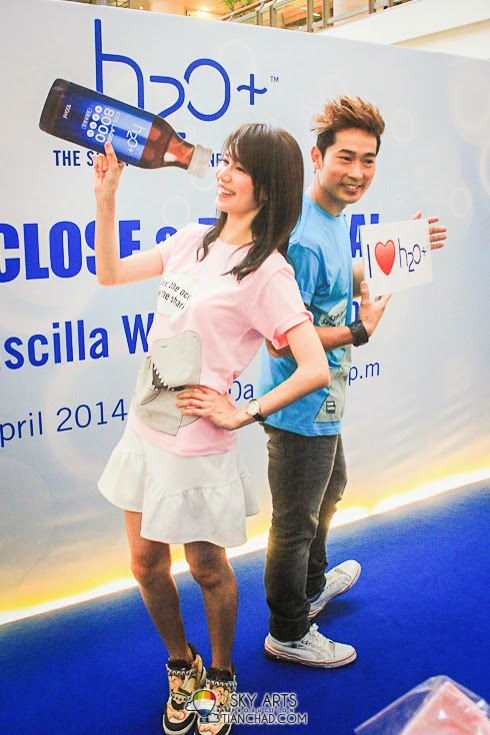 Priscilla Wong and Aric Ho @ H2O+ Meet and Greet Sessions in One Utama and Sunway Pyramid