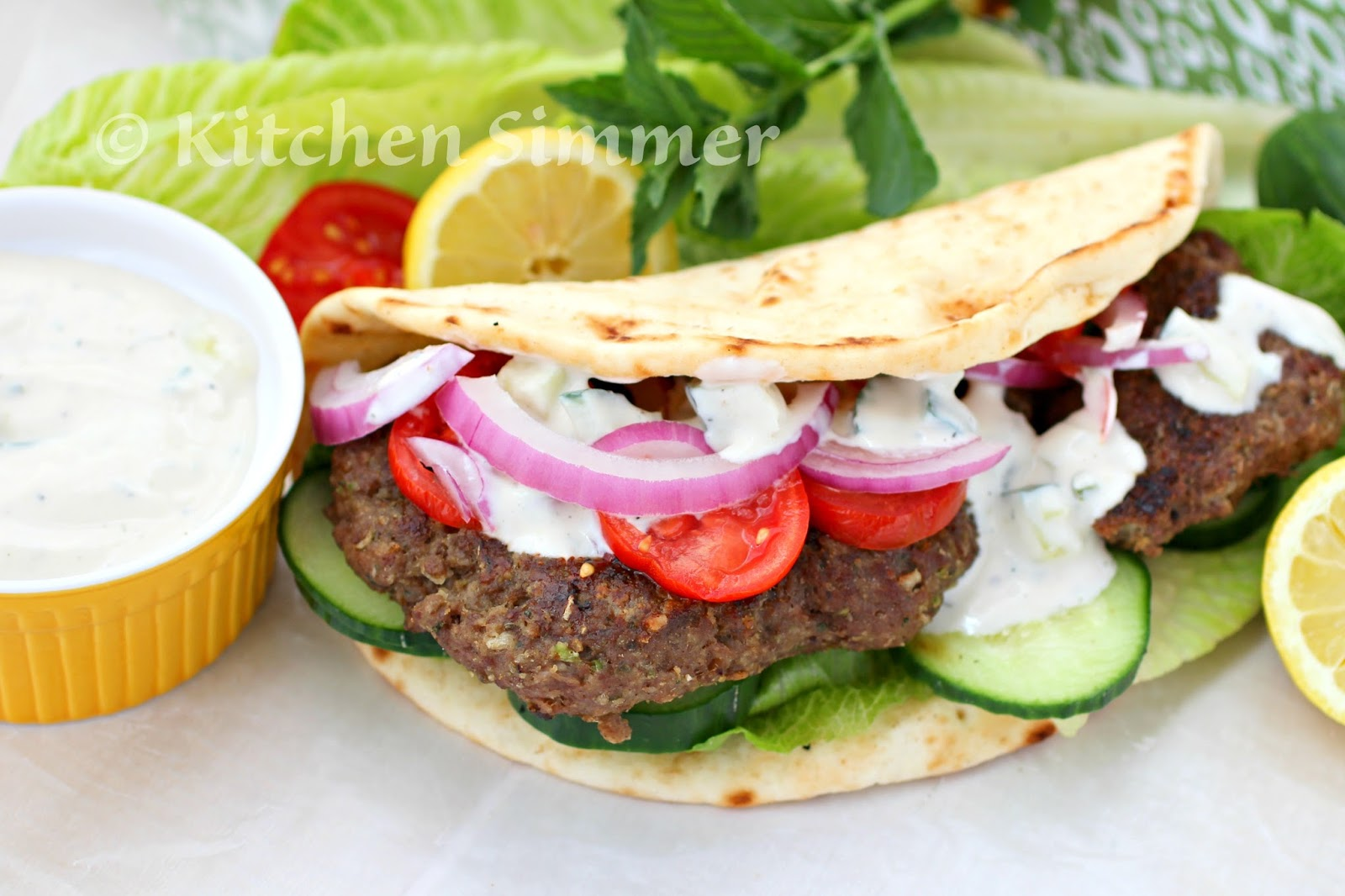 Kitchen Simmer Beef Gyros With Tahini Tzatziki Sauce