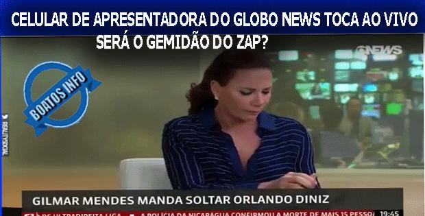 Apresentadora do Globo News cai no Gemidão do Whatsapp ao vivo - Boato
