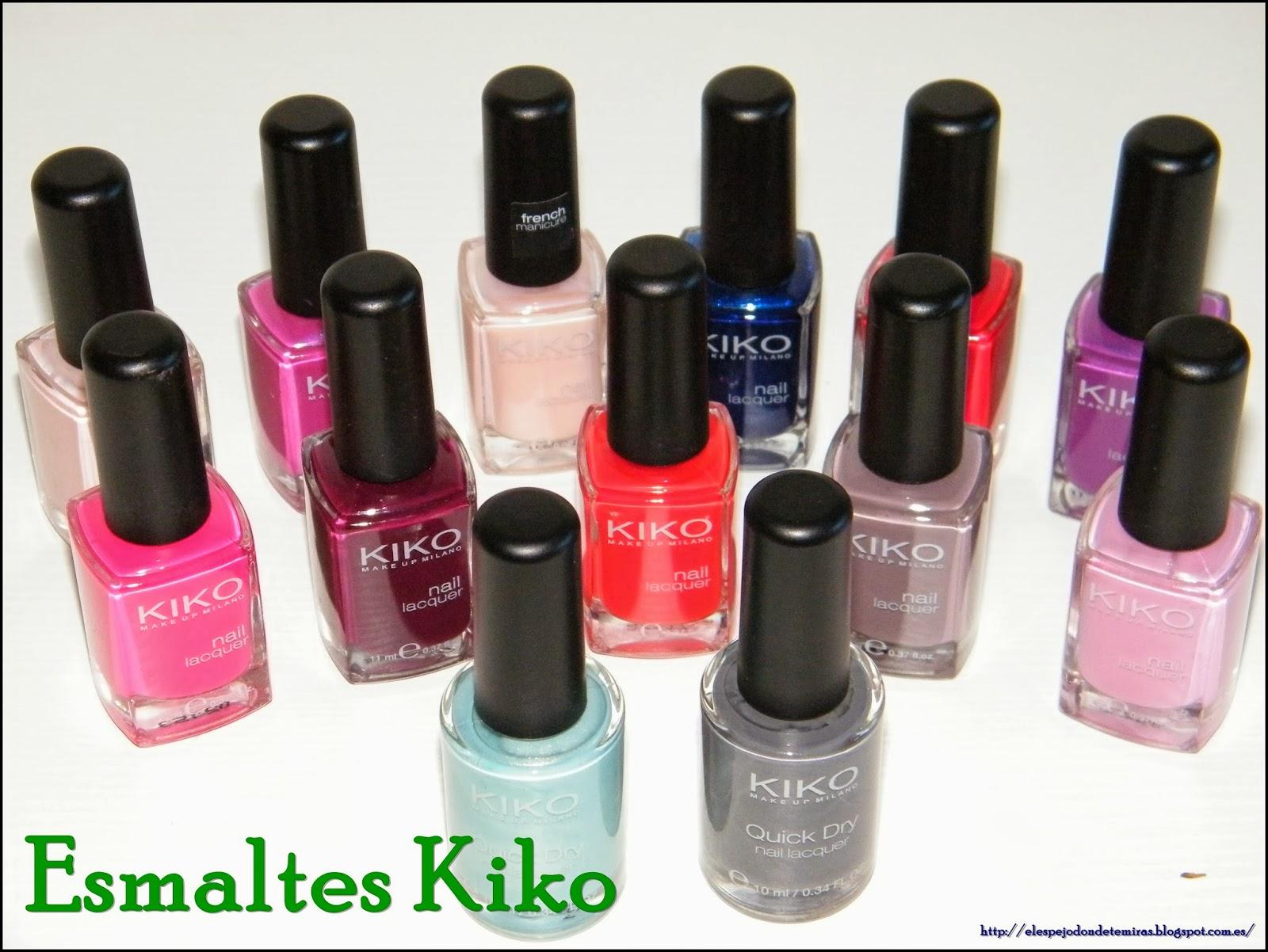 Mis nuevos esmaltes Kiko Quick Dry ..... y todos los demás.... ~ El ...