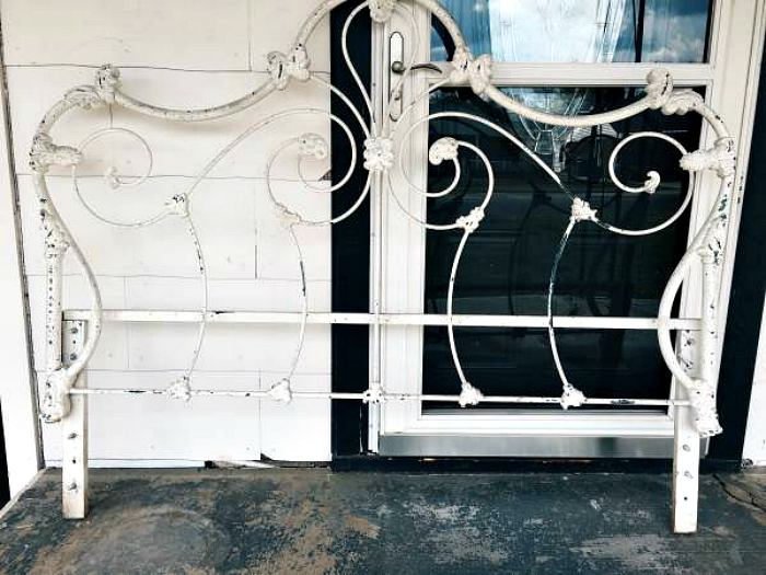 Antique Iron Headboard