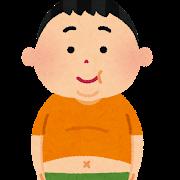 太った男の子のイラスト(肥満)