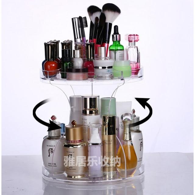 makeup organiser acrylic, beli makeup organiser online, gracias online store