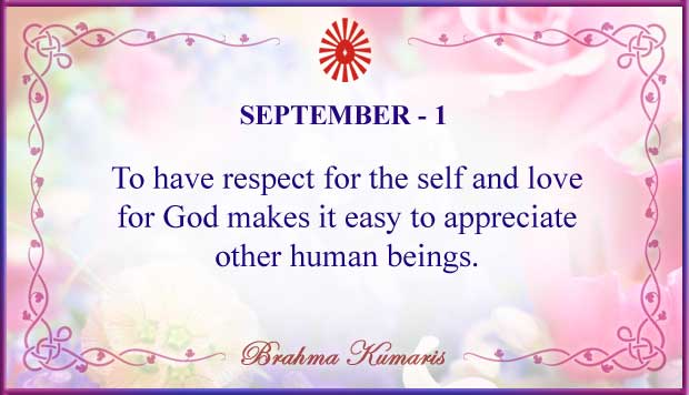 Thought For The Day September 1