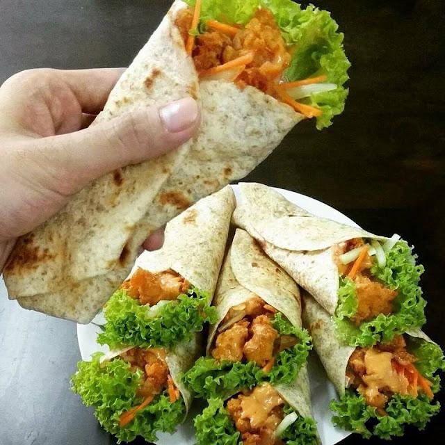 Resepi Chicken Wrap ala-ala KFC