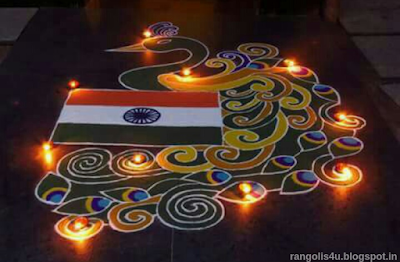 Creative Rangolis for Independance Day