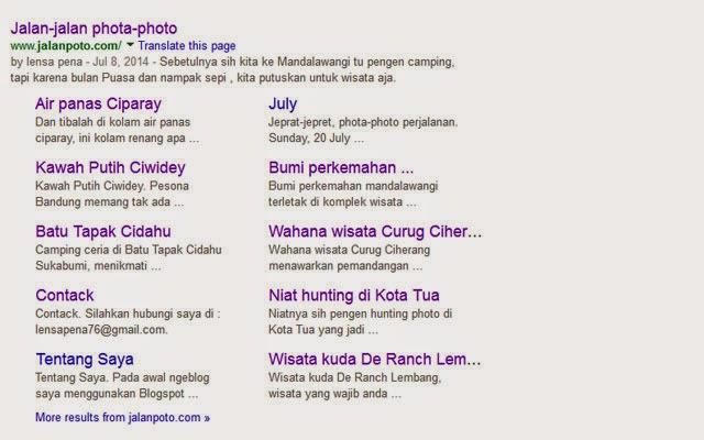 dapat sitelink google