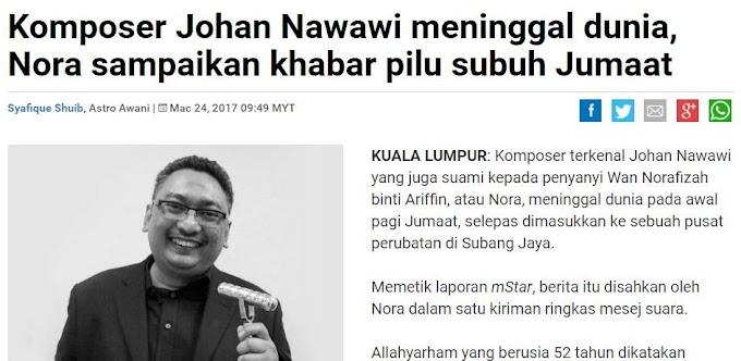 Komposer Johan Nawawi meninggal dunia
