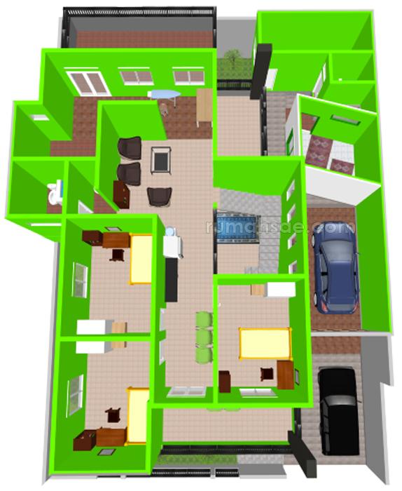 Denah Rumah Islami Minimalis 2 Lantai Rumah Sae