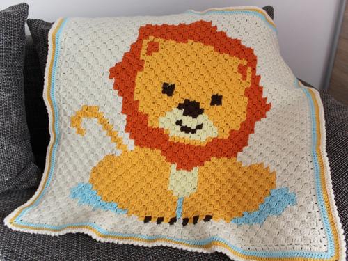 Baby Lion C2C Blanket - Free Pattern