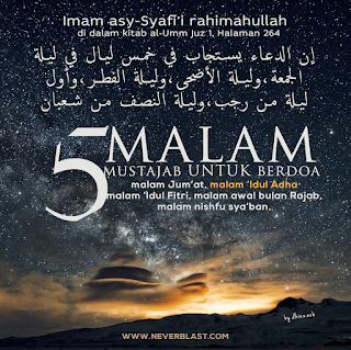 meme islami Malam Mustajab untuk Berdoa