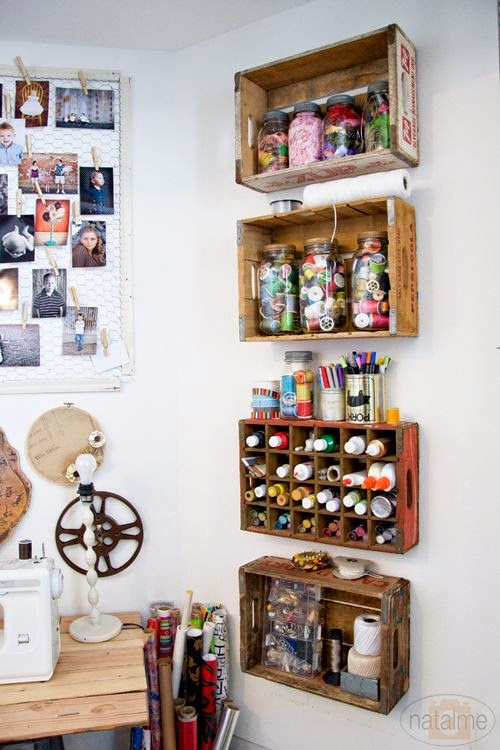 Rue rivoirette inspiration atelier couture for Storage solutions for arts and crafts